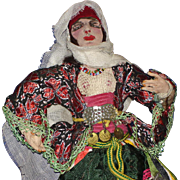 Baronne Belling Ornate Middle Eastern Cloth Woman Doll 1930s-on