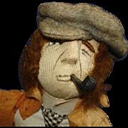 "Kammer & Reinhardt Stockinette Cloth Character Doll 13"" Germany 1920's"