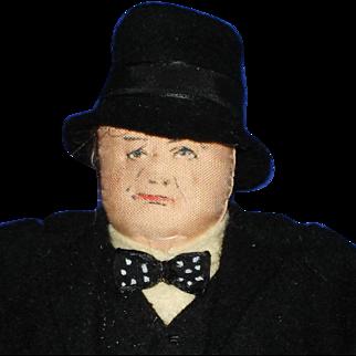 Liberty of London Winston Churchill Cloth Character Doll England