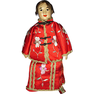 Five Finger Ching Painted Cloth Missions Doll China 1911-on