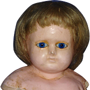 Glass Eye Wax Over Composition Doll Germany 1860s-on