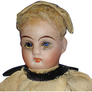 "5"" Bisque Head Maid Doll on Composition Body Doll House Sized Germany"
