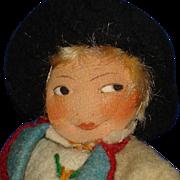 Ronnaug Petterssen Flat Face Heddal Cloth Boy Doll 1930s Norway