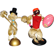 2 Vintage Chenille Party Favors Novelty Dolls
