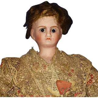 "9"" French Verlingue Bisque Doll c1915"
