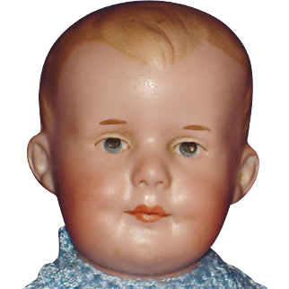 "8.5"" AM 500 Character Bisque Head Baby Doll Germany c 1910-on"