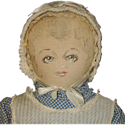 Marion Rau Moravian Polly Heckewelder Cloth Benefit Doll 1930-50s