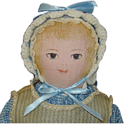 Moravian Polly Heckewelder Cloth Benefit Doll 1960-70s
