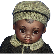 "Susan Fosnot Ethen 6.5"" AA Brown Cloth Doll OOAK! 2009"