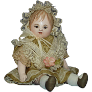 """Susan Fosnot 6.5"""" Genevieve French Bebe Style Cloth Doll OOAK! 2010"""