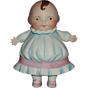 "4"" Happifats All Bisque Character Girl Doll Germany 1913-on"