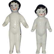 2 Small Frozen Charlotte China Dolls Germany 1870s-on