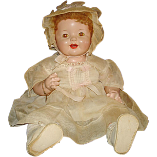 """19"""" Lovums Phongraph Composition Baby Doll Effanbee 1928-on"""