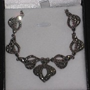 Silver marcasite necklace c1940-50