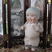 Nippon laughing boy in blue woolly hat 4 1/2""