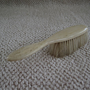 Late 19th early 20th century bone handled baby brush for doll