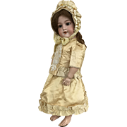 """Beautiful two piece costume and bonnet for 19"""" bebe body"""