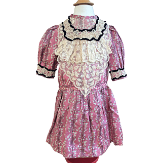 Rose pink dress in antique silk