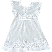 Antique lace doll dress