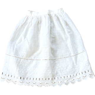 Antique half petticoat for doll