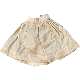 Antique skirt or petticoat for fashion doll poupee