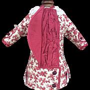 Red dress in Bru Brevete asymmetrical style