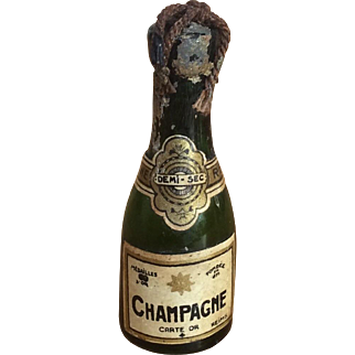 Miniature champagne bottle