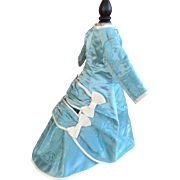 Turquoise 2pc doll costume in antique turquoise silk