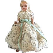 """3"""" all bisque German doll"""