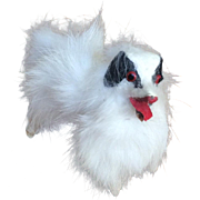 "Borzoi dog for poupee 4"" real fur"