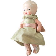 All bisque cold painted baby doll