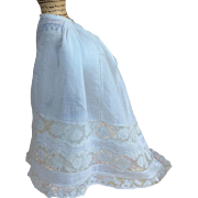 Stunning original antique half slip petticoat for French poupee