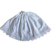 Beautiful antique half slip for poupee
