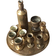 Collection of 19thc brass miniatures 1/12th scale