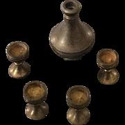1/24th scale 19thc Brass wine set