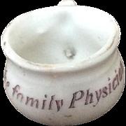 19thc Ceramic dollhouse potty