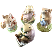 Four Beatrix Potter characters by Royal Albert and Beswick