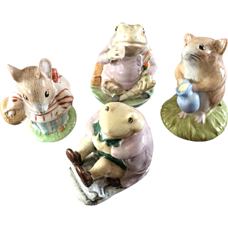 Four Beatrix Potter characters by Royal Albert