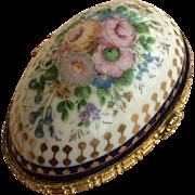 Porcelain trinket box Easter egg Limoges style