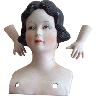 Vintage bisque ladies head and hands