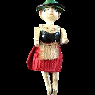 Miniature antique wooden doll