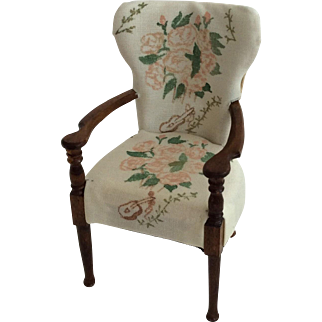Miniature Winston Churchill dining chair - Chartwell, Kent 1:12  1/12th scale dollhouse