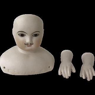 "Ltd edition artist made Barrois man doll kit 17"""