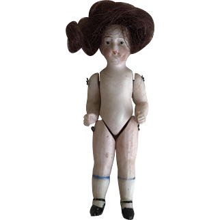 """3"""" all bisque doll German"""