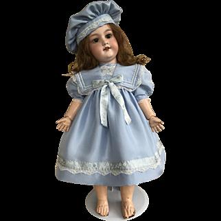 Pale blue silk sailor dress and hat