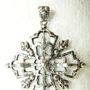 Sterling Peruzzi Boston Cross Pendant Medallion CA 1930-1981