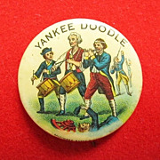 Early 1900's Patriotic Yankee Doodle Pinback Button Celluloid