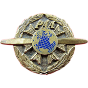 Scarce Pan American Airways PAA Pan Am Ground Mechanic Lapel Badge ca. 1945 Balfour Sterling