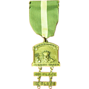 Seabright (NJ) Beach Club Swimming Contest Award Medal ca. 1940's D&G N.Y.