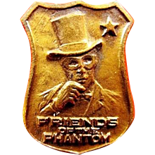 Friends of the Phantom Crime Fighting Club Lapel Badge Pin 1930's Scarce